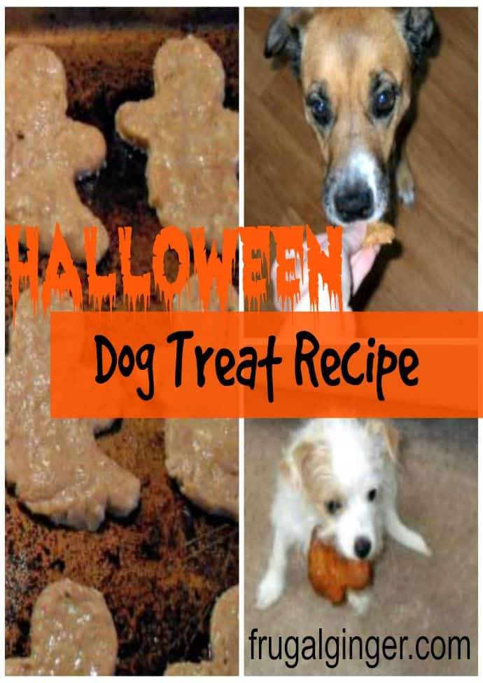 Easy dog treat recipe perfect for Halloween...only 4 ingredients!
