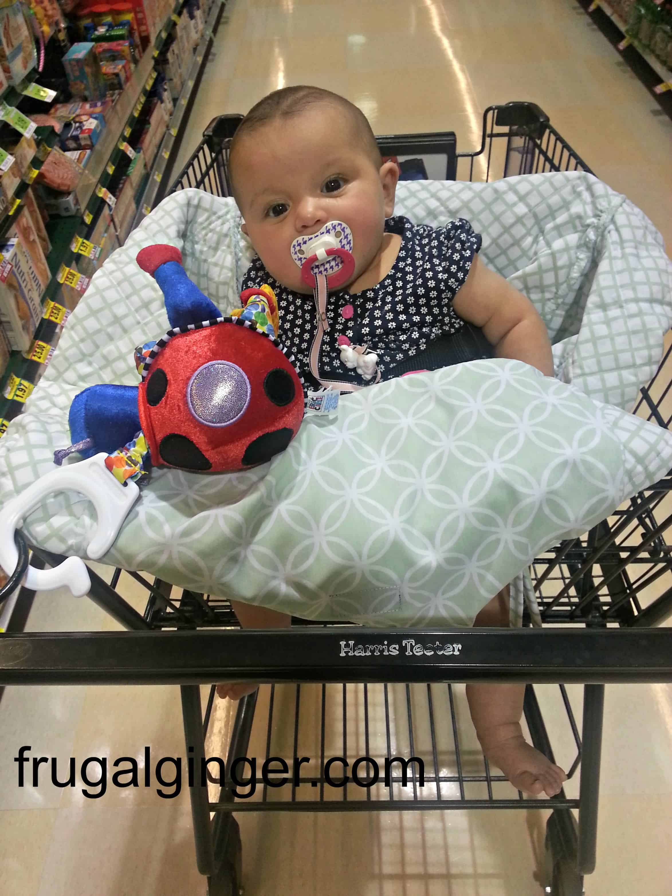 balboa baby shopping cart cover review  giveaway - aria's baby cart cover