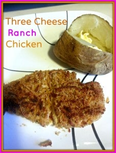 three cheese ranch chicken