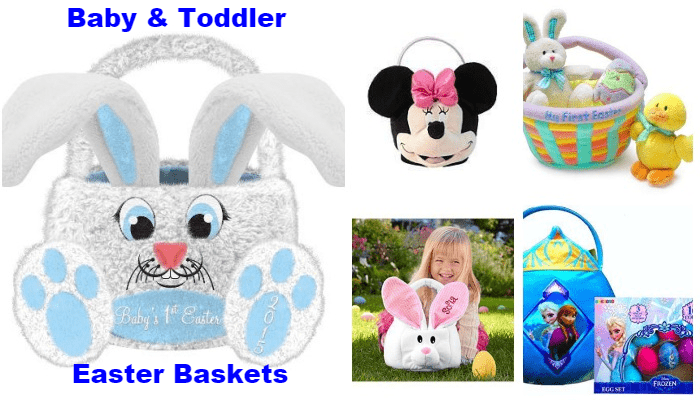 Adorable Easter Baskets for Babies & Toddlers-collage