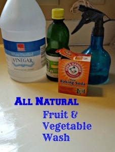 all natural fruit and vegetable wash