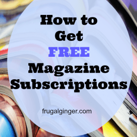 Learn all the ways you can get FREE magazine subscriptions to your favorites like: Shape, Cosmo, Martha Stewart, and more!