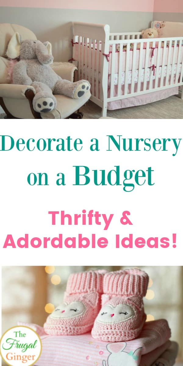 I used these simple and easy ideas to decorate a nursery on a budget. Some great DIY tricks and cheap ways to create an adorable and affordable baby room.