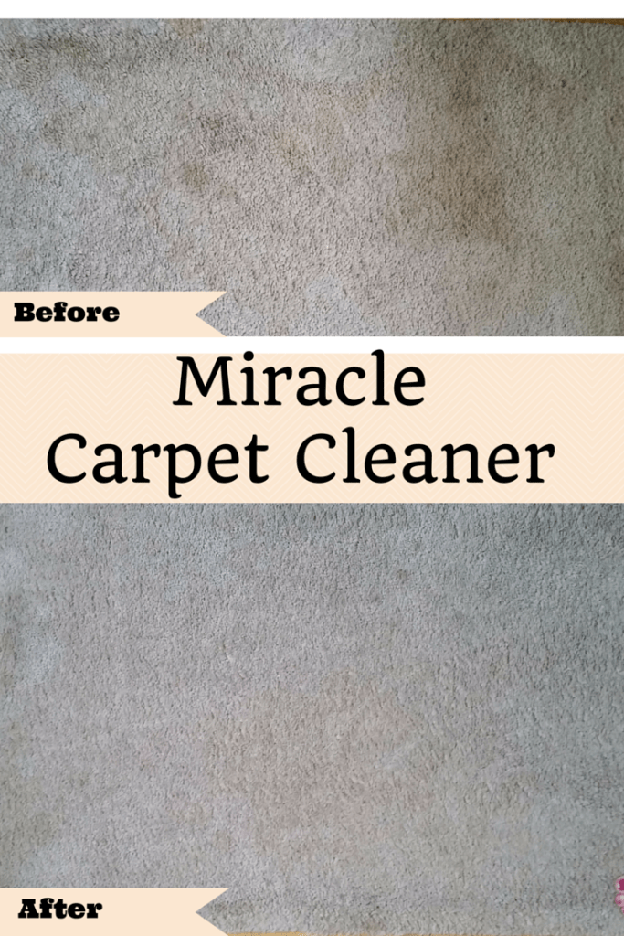 I love using this DIY Miracle carpet cleaner to get rid of pet stains and odors. It's the best homemade recipe I've found. See how to make this solution for small areas or machines. Includes before and after pictures.