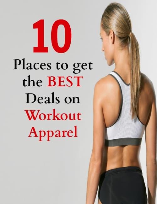 workout deals / fitness / deals/ bargains / workout gear / workout apparel / save money / shopping tips /