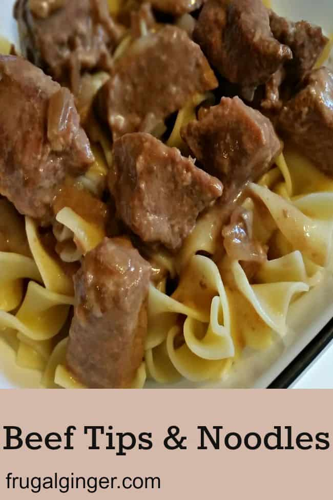 Easy Slow Cooker Beef Tips Amp Noodles Recipe