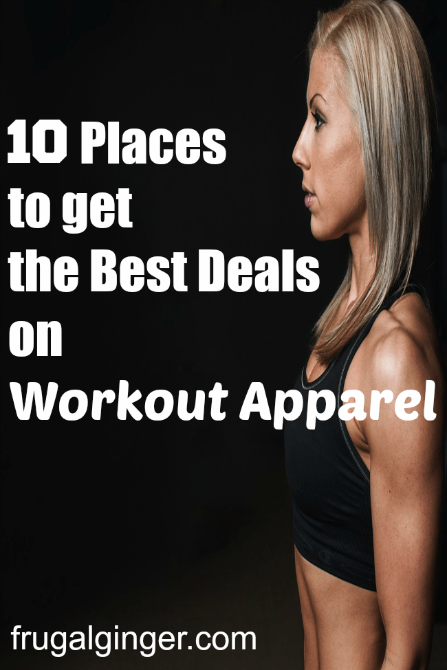 Top 10 places to get the best deals on workout apparel and gear.