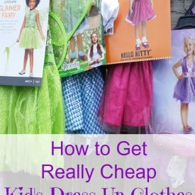 How to get kid's dress up and pretend play clothes for next to nothing.