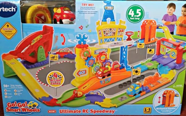 You can win the new Go! Go! Smart Wheels Ultimate RC Speedway for your child!