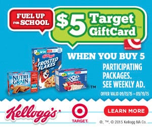 Awesome deal on Kellogg's products at Target! Earn a $5 gift card!