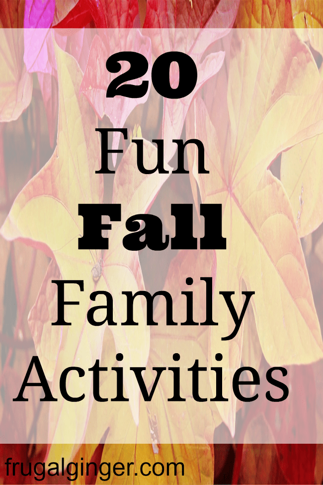 20 fun family activities that are perfect for Fall weather.
