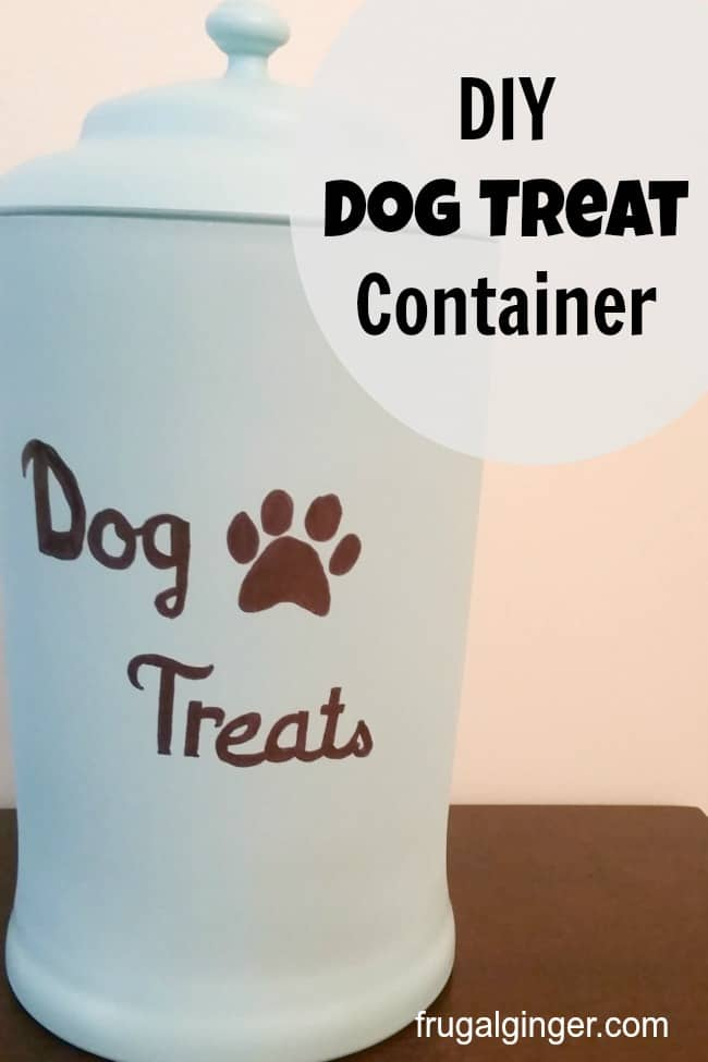 Easy DIY dog treat container. You only need 3 supplies!
