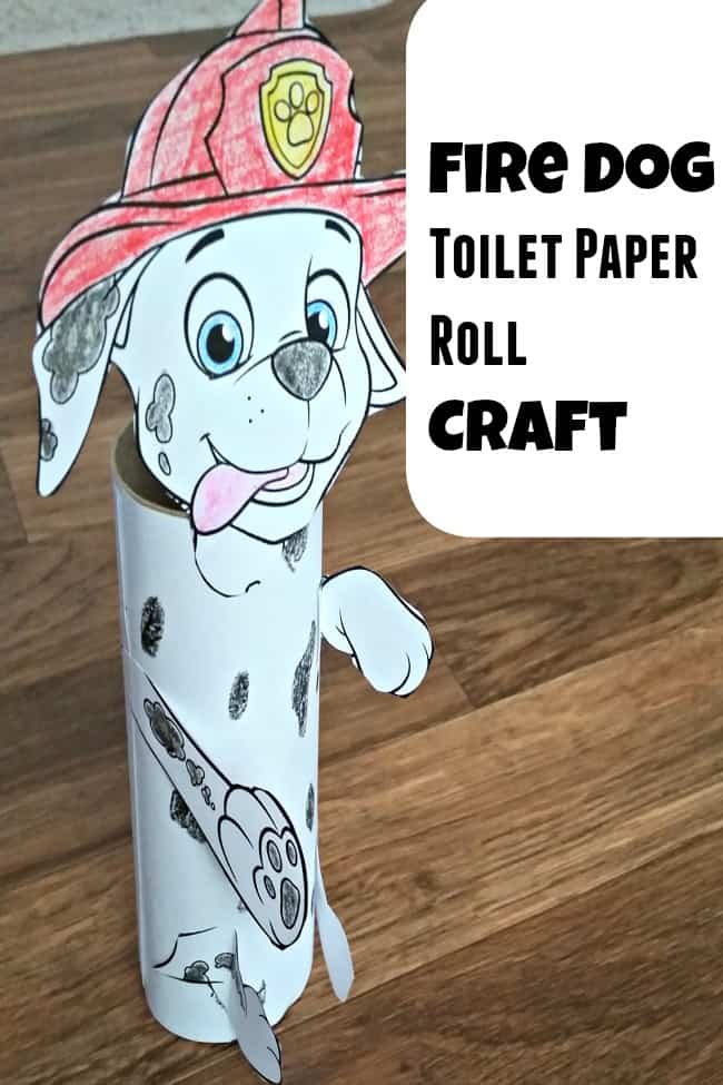 Fire dog toilet paper roll craft for Fun crafts with toilet paper rolls