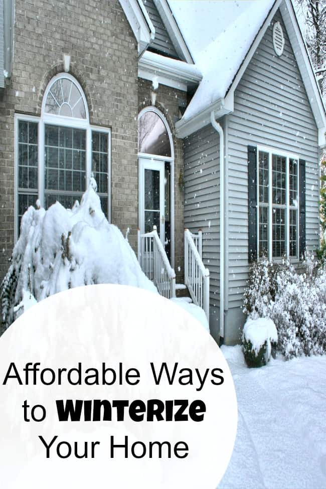 Winterize your home on a budget with these simple energy saving tips. Save money during the cold weather with these DIY ideas and hacks.