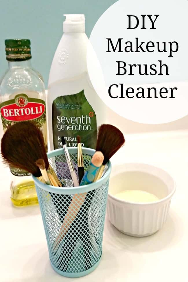Use this DIY makeup brush cleaner to save money and stay beautiful! Only costs pennies to make!