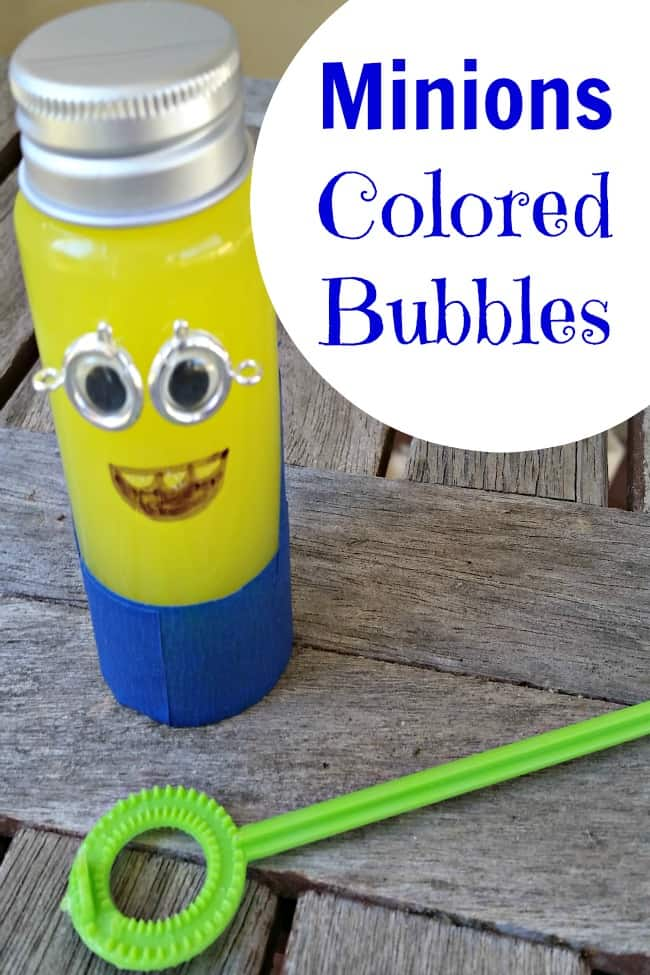 Minions colored bubbles