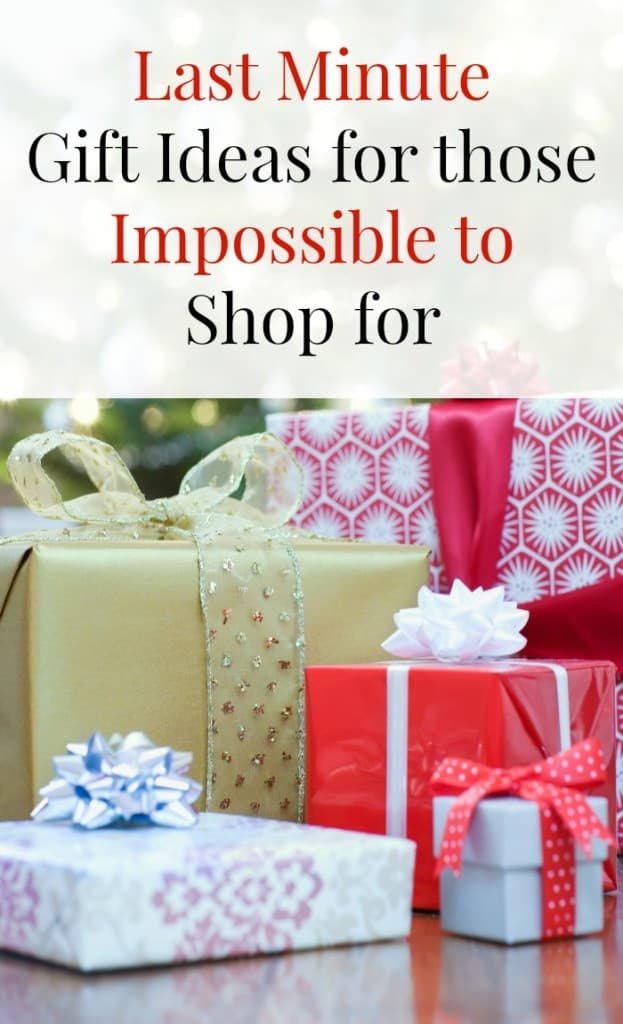 Perfect last minute gift ideas for those hard to buy for for Gift with purchase ideas