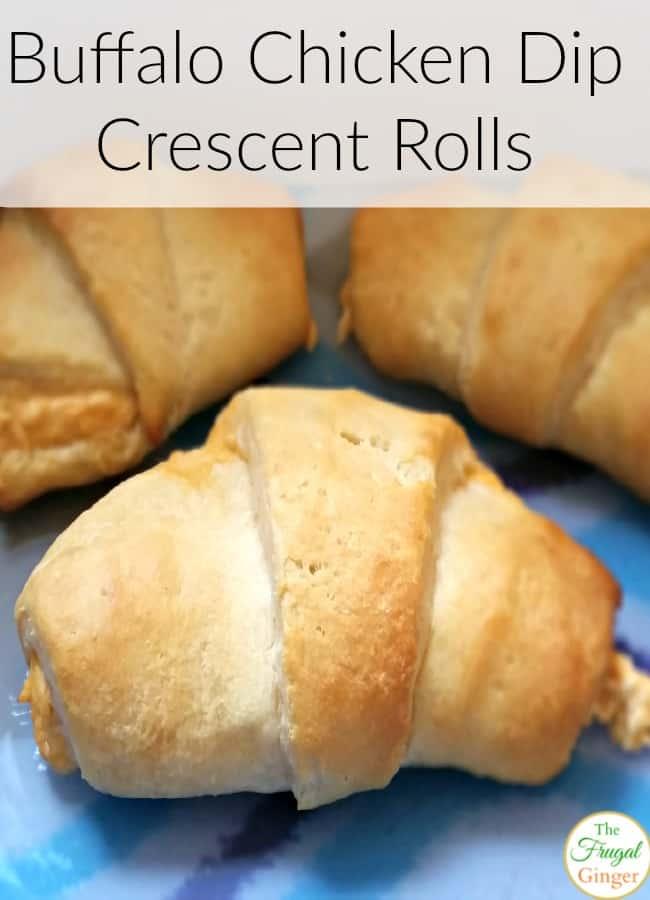 buffalo chicken dip crescent rolls