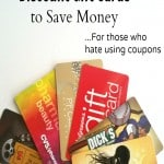 Using Discount Gift Cards to Save Money