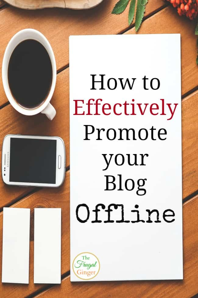 promote blog offline