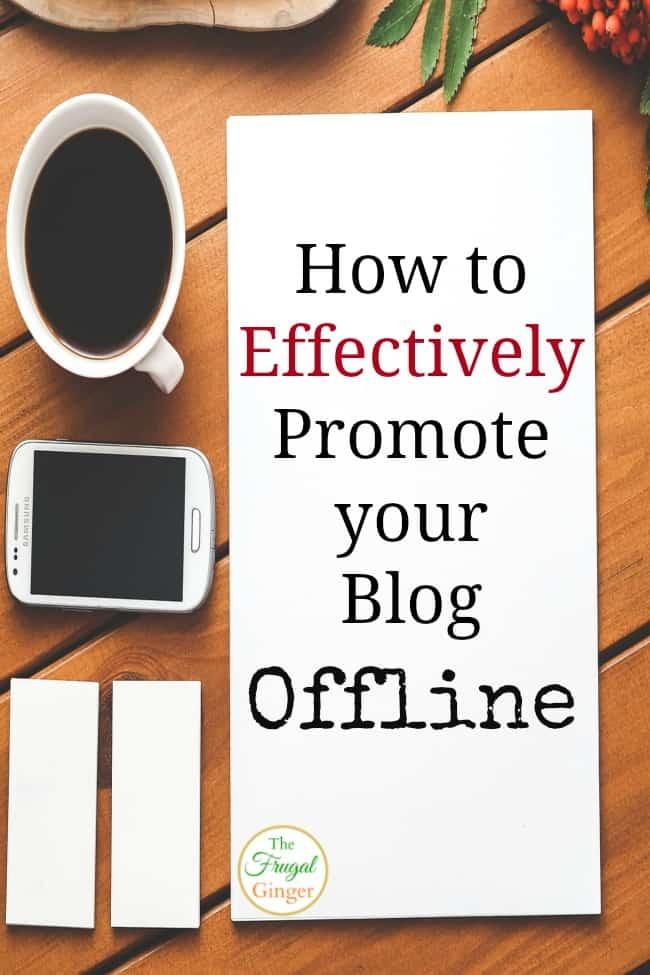 promote blog offline