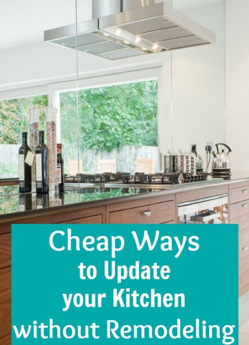 Use these inexpensive tips to get a beautiful kitchen remodel on a budget. These ideas and tips are simple and cheap so you can update your entire kitchen without a big renovation.