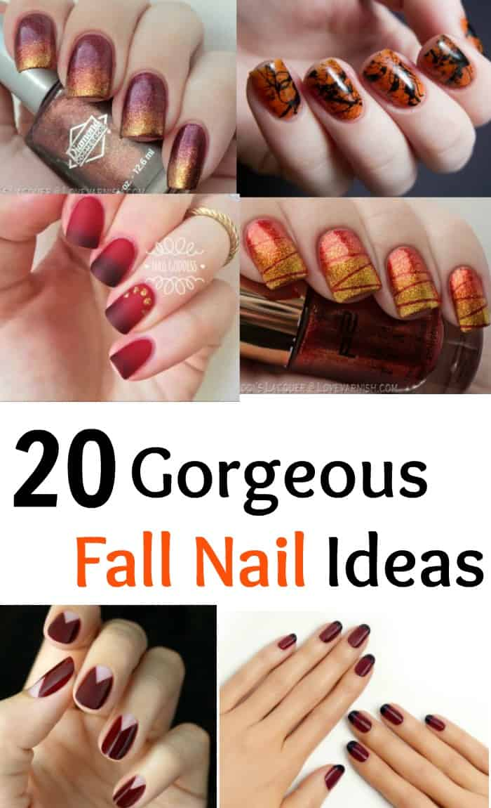 20 Gorgeous Fall Nail Ideas