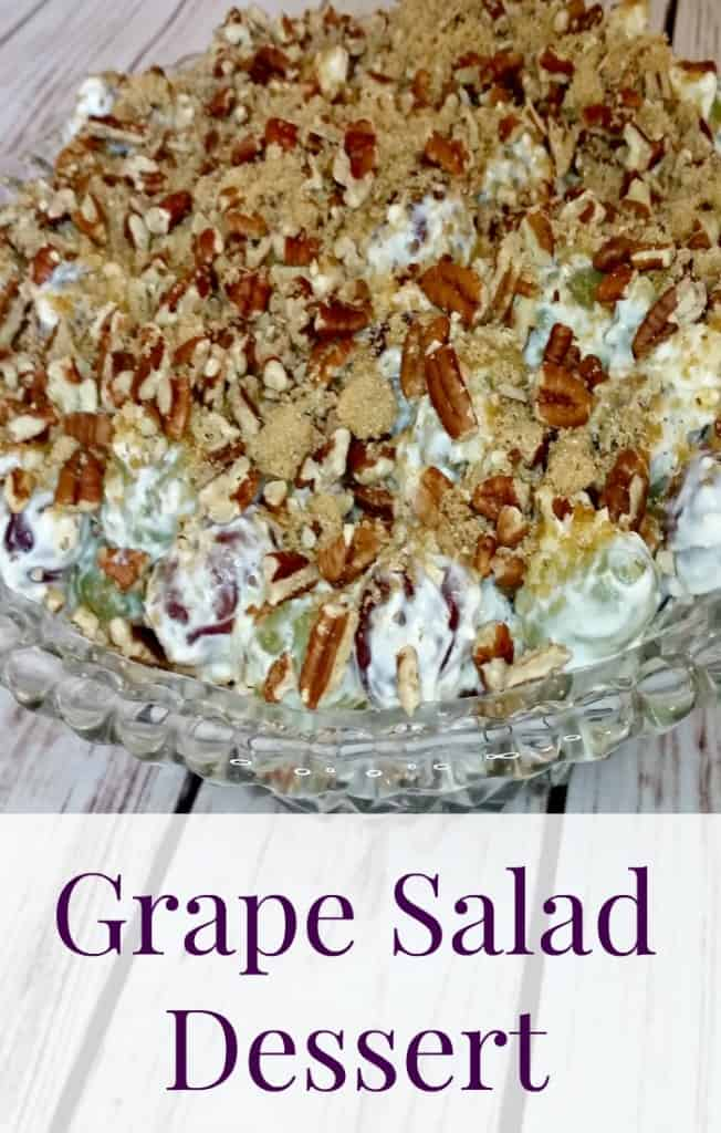 This is the best grape salad dessert recipe made with cream cheeses and brown sugar. A simple, easy, and creamy recipe to serve at parties or potlucks.