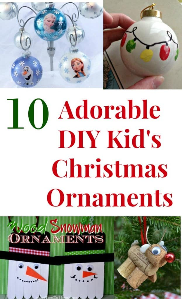 diy kid's Christmas ornaments