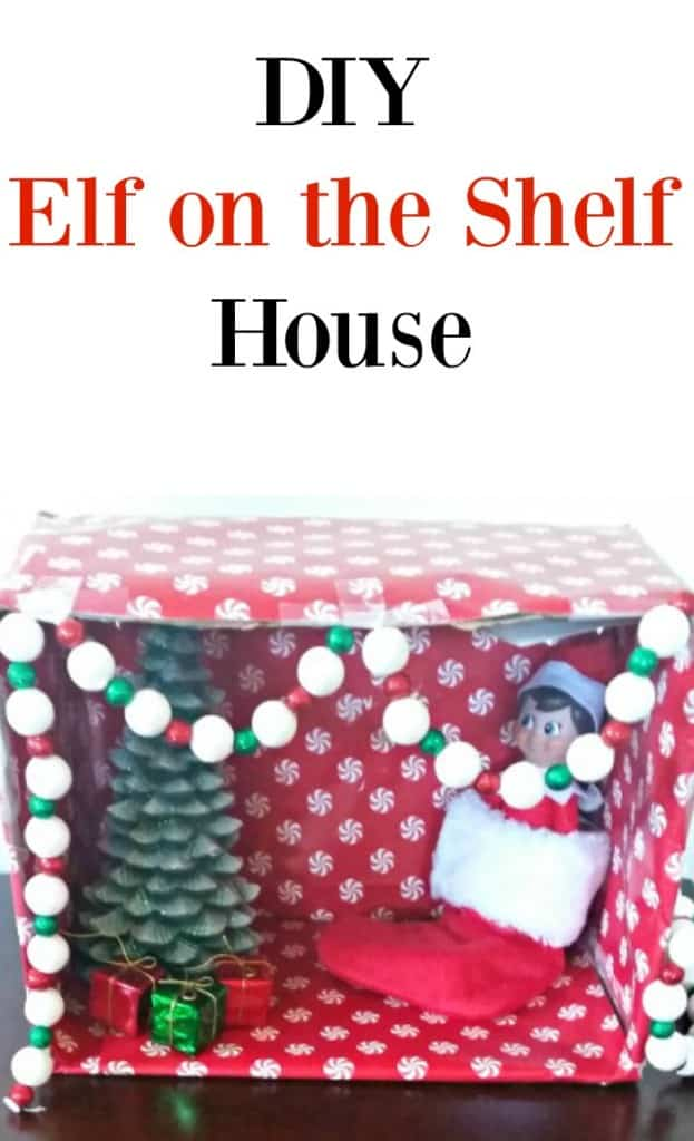 Make this easy DIY Elf on the Shelf house with your kids for a fun new tradition for toddlers and kids of all ages. This cute idea shows you how to make a house for your favorite elf.