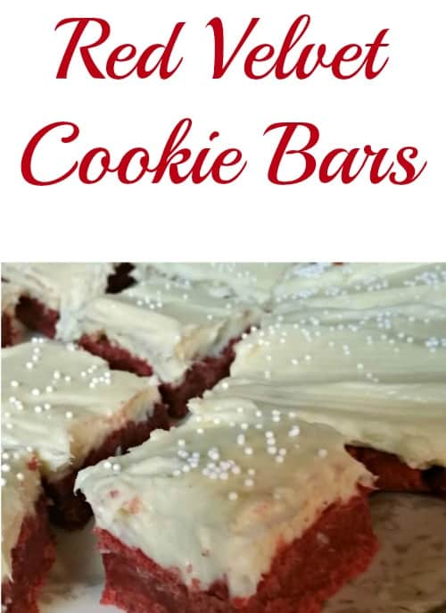 Make this Red Velvet Cookie Bars recipe with cream cheese icing for your next Christmas or Valentine's Day holiday. Made from scratch but also easy. They come out soft and gooey everytime!