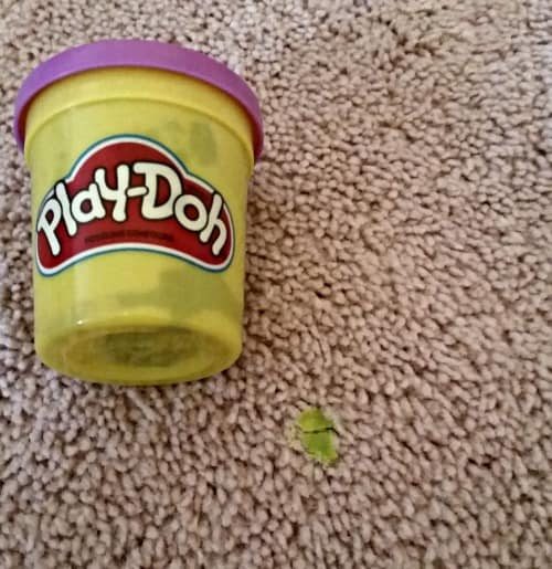 play-doh out of carpet
