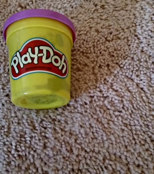 clean play-doh out of carpet