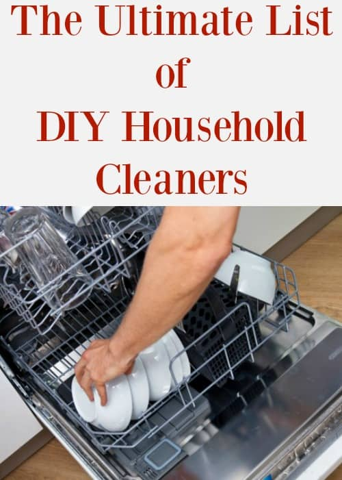 The ultimate list of DIY household cleaners so that you can save money on products that are better for your family's health.
