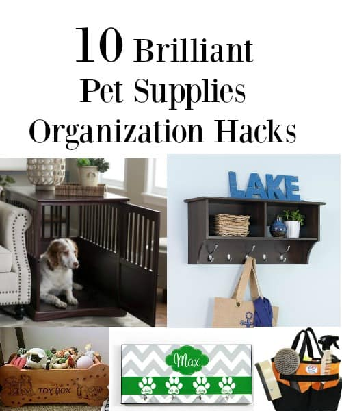 Pet supply organization ideas that will help you stay tidy with limited space.