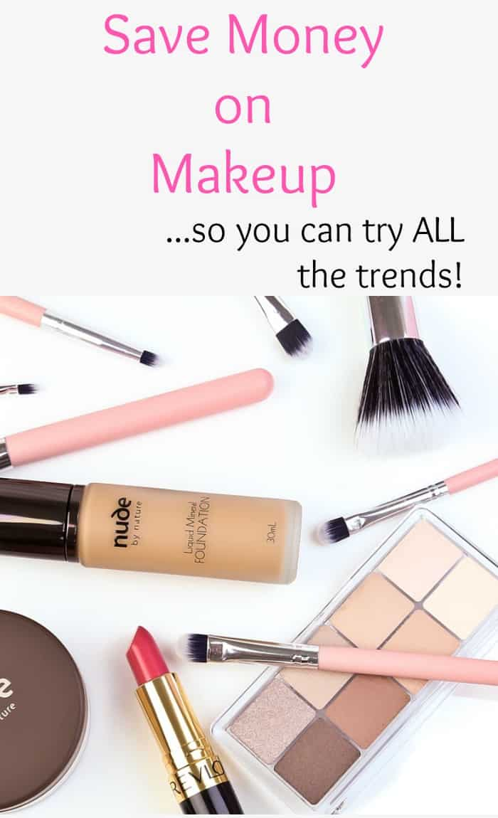 Use this tips to help you save money on makeup so you can look great without spending a fortune. Beauty Hacks, Frugal Living tips.