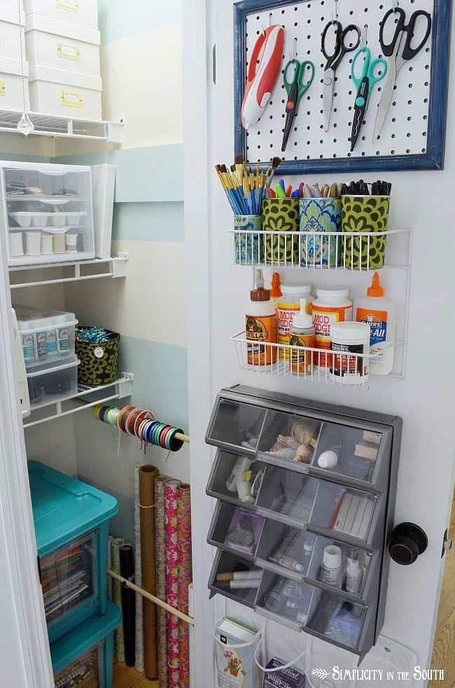 If You Are A Crafter, You Have To See How Simplicity In The South Organized  Her Craft Closet. She Used Several Items That You Can Easily Find At The  Dollar ...