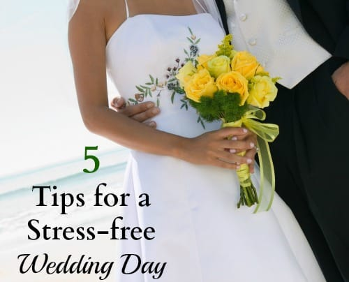 5 tips for a stress free wedding day so you can enjoy being a bride.