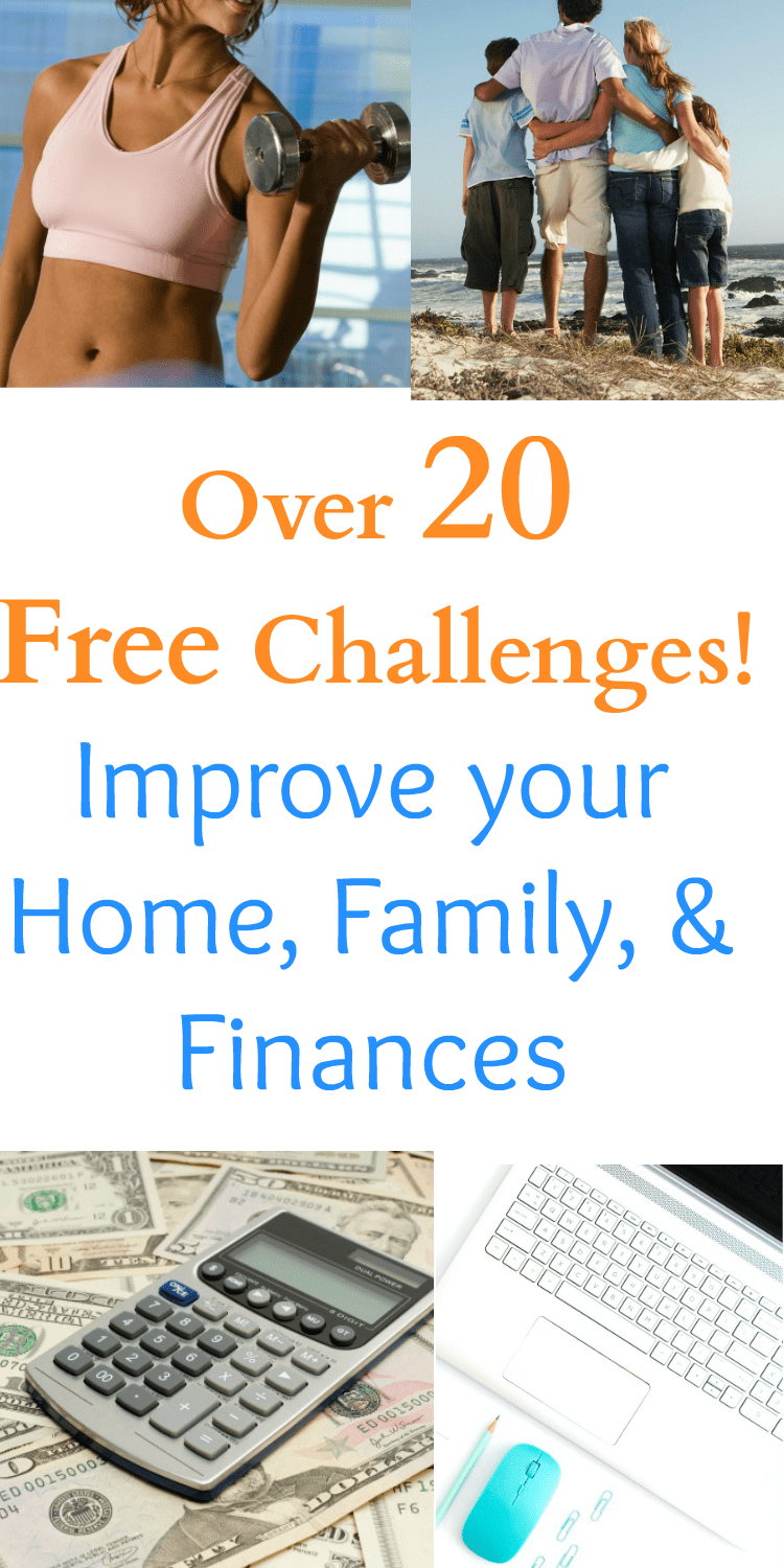 free challenges / free courses / self improvement / declutter / fitness / workouts / increase income / finances / financial help / saving money /