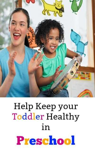 Use these parenting tips to keep your toddler healthy as they start preschool. My daughter got sick her first week at school and I don't plan on that happening this new school year!