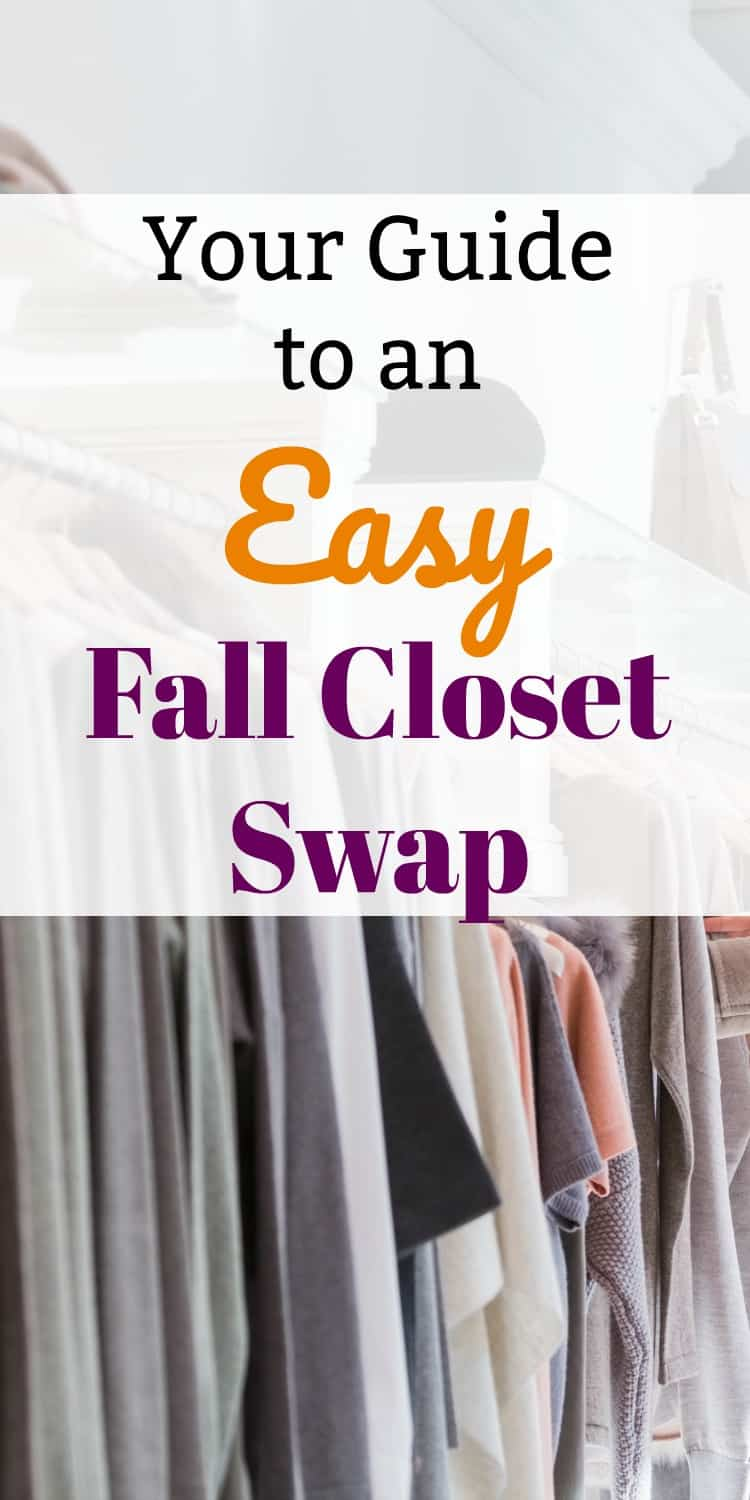 Get your closet organized and ready for Fall with a Fall closet swap! It is quick and easy to get all of your clothes and accessories ready for the cold months even when you are short on time!