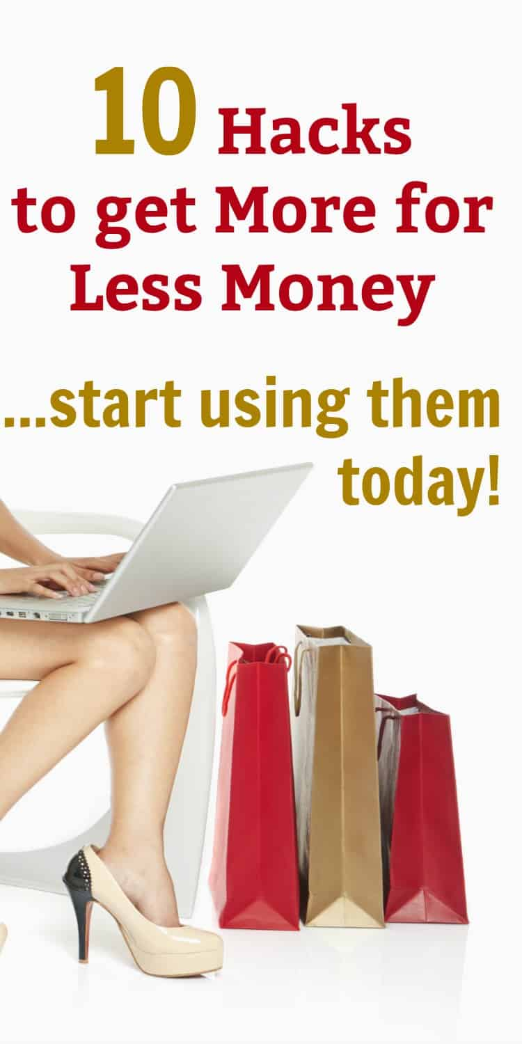 As a stay at home mom, I know how important it is to stick to a budget. You have to read these money saving tips and tricks to learn how to get more for less! These are savings hacks you need to start using today!