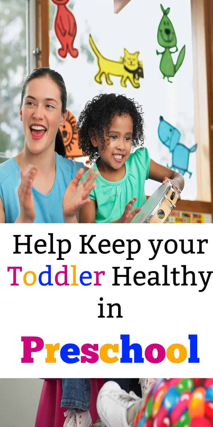 Use these parenting tips to keep your toddler healthy as they start preschool. My daughter got sick her first week at school and I don't plan on that happening this new school year! AD