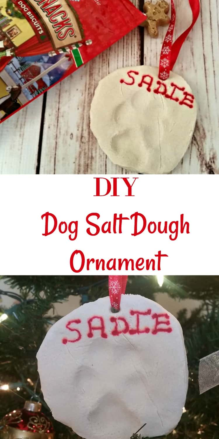 This DIY dog salt dough ornament recipe is such a simple and fun way to make Christmas decorations from your dog's paws.