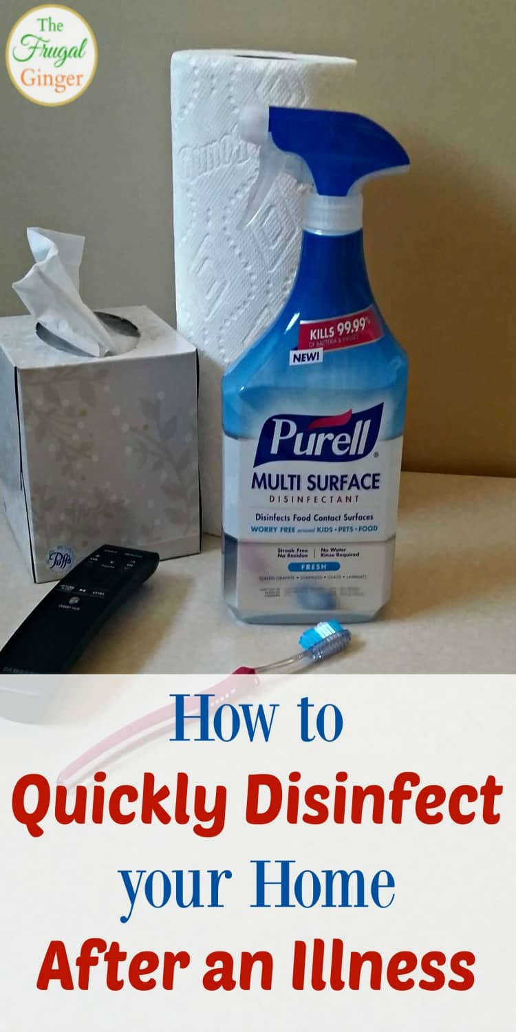 Use these easy cleaning tips to quickly disinfect your house after an illness or sickness in the family. Kill the germs fast to get healthy and feel better!