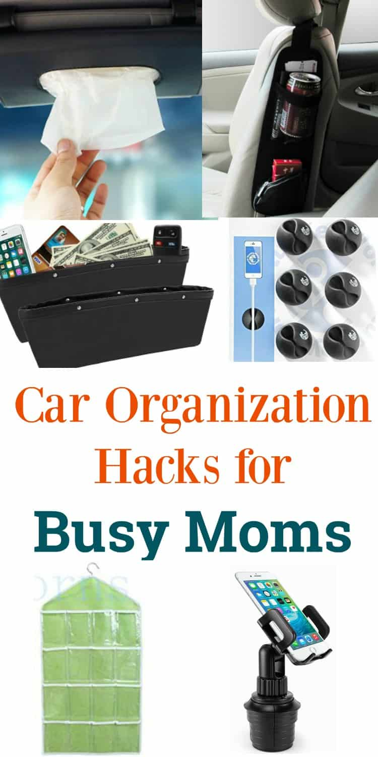As a busy mom, these car organization hacks are just what I needed to get my vehicle clean from the mess my kids make. These ideas are simple and easy to do and shows you exactly how to get organized once and for all!
