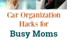 Car Organization Hacks for Busy Moms : Finally get your car clean once and for all