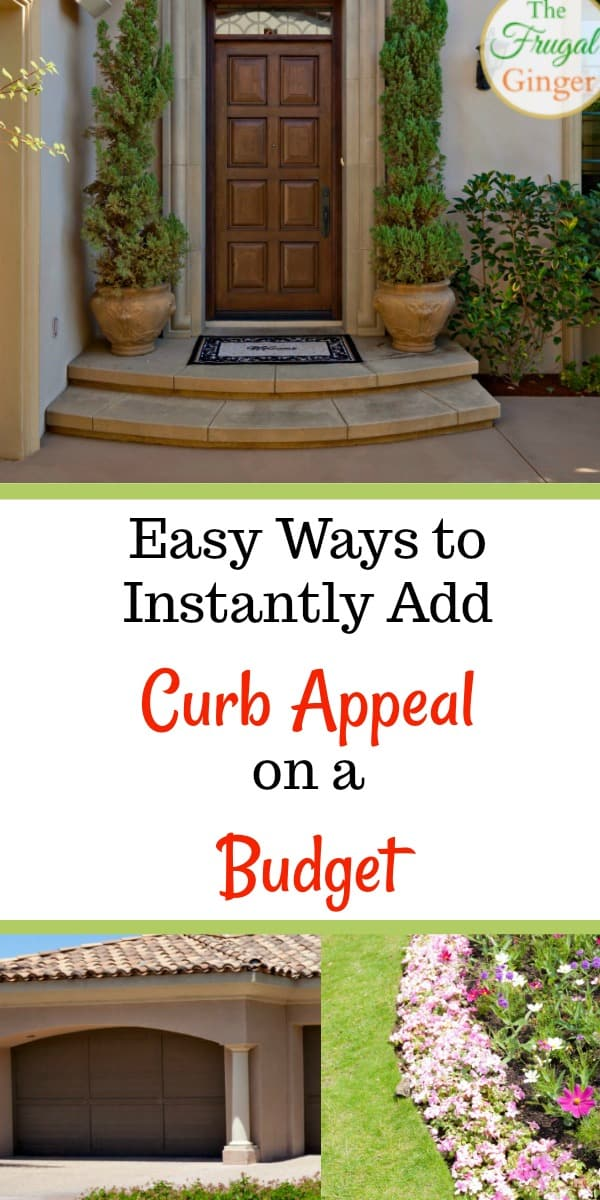 Some great simple DIY ideas to add instant curb appeal on a budget. Great hacks and tips for fixer upper buyers or those looking to sell your home fast. Ideas for landscaping, the front yard, the porch, and your home's exterior.