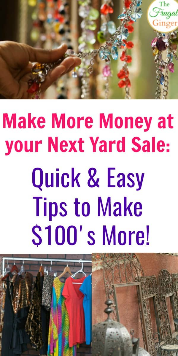 These awesome yard sale ideas are a great way to make more money at your next sale. The easy and clever tips will show you how to have a successful yard sale so you can make extra cash and declutter at the same time!