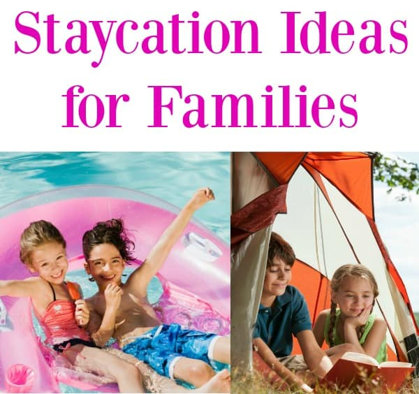 These are the best staycation ideas for families if you are going to be at home with kids this summer. Some great things to do during the summer or even Spring Break!